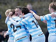 FODBOLD: André Riel (FC Helsingør) jubler efter scoringen til 1-0 under kampen i NordicBet Ligaen mellem FC Helsingør og Hobro IK den 23. april 2017 på Helsingør Stadion. Foto: Claus Birch