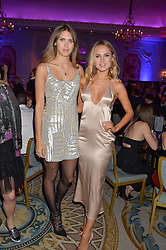 Left to right, SABRINA PERCY and KIMBERLEY GARNER at the Quintessentially Foundation's Poker Night held at The Savoy, London on 13th October 2016.
