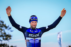 Tom Boonen (BEL) Etixx-Quick Step finishes in 2nd place in Roubaix Velodrome at the end of the 114th edition of  Paris Roubaix 2016 race running 255.5km from Compiegne to Roubaix, France. 10th April 2016.<br /> Photo by Eoin Clarke / PelotonPhotos.com<br /> <br /> All photos usage must carry mandatory copyright credit (&copy; Peloton Photos | Newsfile | Eoin Clarke)