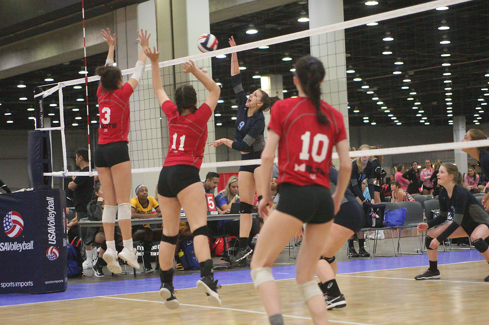 GJNC - July 2018 - Detroit, MI - 16 Patriot - Michio (black) - Mich Elite (red) - Photo by Wally Nell/Volleyball USA