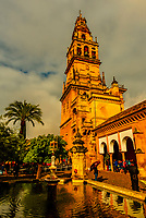 Belltower, The Mezquita (the Mosque-Cathedral) of Corboba, Cordoba Province,  Spain.