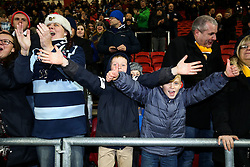 Bristol Rugby fans celebrate after Bristol Rugby win 28-20 - Rogan Thomson/JMP - 26/12/2016 - RUGBY UNION - Ashton Gate Stadium - Bristol, England - Bristol Rugby v Worcester Warriors - Aviva Premiership Boxing Day Clash.