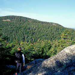 Acadia N.P., ME. Hiking on Mansell Mtn.