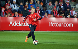 ADELAIDE, AUSTRALIA - Sunday, July 19, 2015: Liverpool's Lucas Leiva during a training session at Coopers Stadium ahead of a preseason friendly match against Adelaide United on day seven of the club's preseason tour. (Pic by David Rawcliffe/Propaganda)