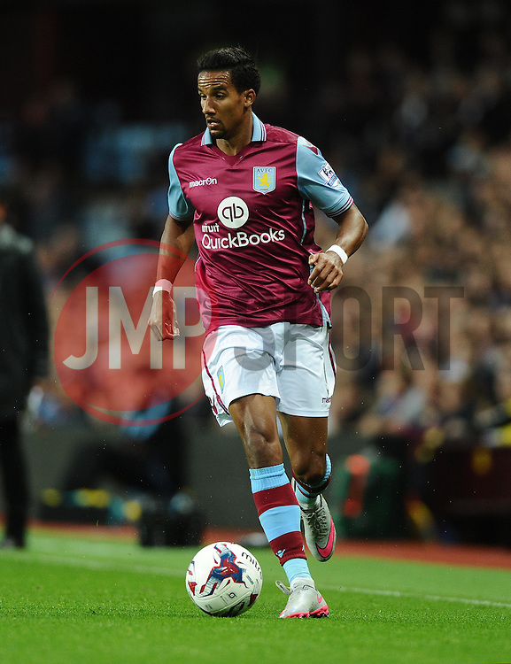 Scott Sinclair of Aston Villa  - Mandatory byline: Joe Meredith/JMP - 07966386802 - 25/08/2015 - FOOTBALL - Villa Park -Birmingham,England - Aston Villa v Notts County - Capital One Cup - Second Round