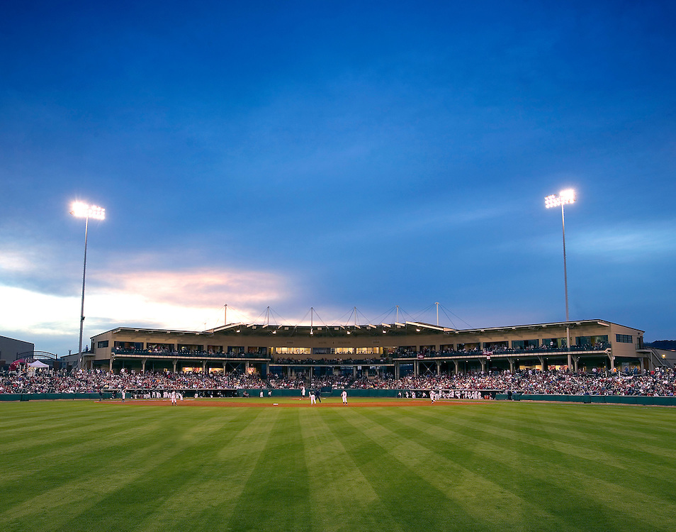 FAYETTEVILLE, AR - May 7:  Arkansas Razorback baseball at Baum Stadium on the campus of the University of Arkansas on May 7, 2006 in Fayetteville, Arkansas.   (Photo by Wesley Hitt/Getty Images) *** Local Caption ***