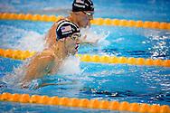 RIO DE JANEIRO - Michael Phelps tijdens de finale van de 200 m wisselslag tijdens de Olympische Spelen van Rio. ANP ROBiN UTRECHT