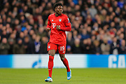 Bayern Munich midfielder Alphonso Davies (19) during the Champions League match between Chelsea and Bayern Munich at Stamford Bridge, London, England on 25 February 2020.