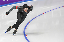 February 23, 2018 - Pyeongchang, Gangwon, South Korea - Konrad Nagy of  Hungary in 1000 meter speedskating at winter olympics, Gangneung South Korea on February 23, 2018. (Credit Image: © Ulrik Pedersen/NurPhoto via ZUMA Press)