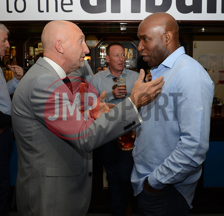 Ian Holloway and Barry Hayles - Mandatory byline: Dougie Allward/JMP - 07966386802 - 31/07/2015 - FOOTBALL - Memorial Stadium -Bristol,England - Bristol Rovers v West Brom - Phil Kite Testimonial Match