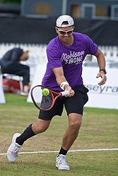 LIVERPOOL, ENGLAND - Sunday, June 23, 2019: Robert Kendrick (USA) during the Men's Final on Day Four of the Liverpool International Tennis Tournament 2019 at the Liverpool Cricket Club. (Pic by David Rawcliffe/Propaganda)