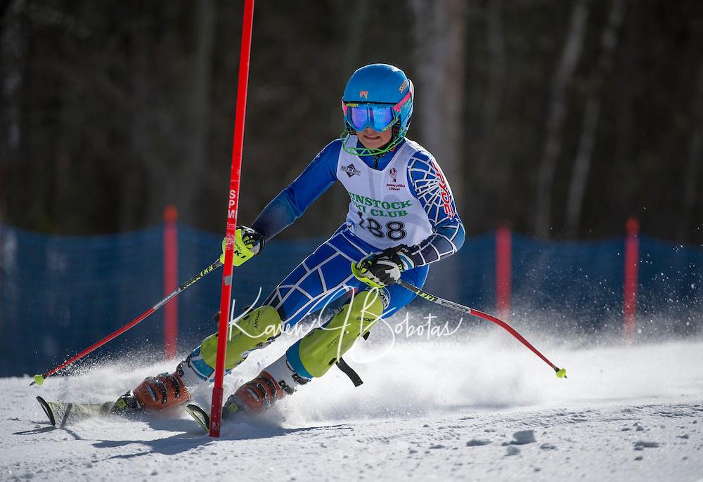 Piche Invitational slalom 2nd run U14 boys Sunday, March 17, 2013.  Karen Bobotas Photographer