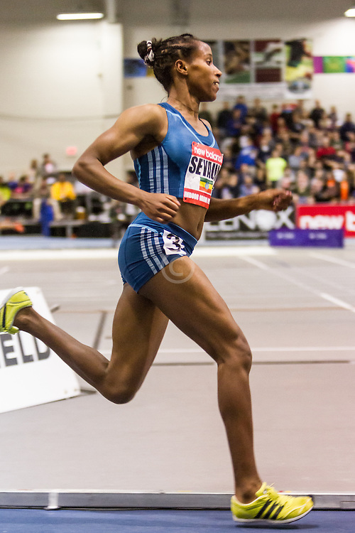New Balance Indoor Grand Prix Track & FIeld:   Women's 2000 meters, Dawit Seyaum, 18, Ethiopia, World Junior Record