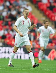 LONDON, ENGLAND - Saturday, June 2, 2012: England's Jordan Hendersen in action against Belgium during the International Friendly match at Wembley. (Pic by David Rawcliffe/Propaganda)