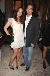 ARABELLA MUSGRAVE and the HON.JAMES TOLLEMACHE at the Quintessentially Summer Party at the Wallace Collection, Manchester Square, London on 6th June 2007.<br />