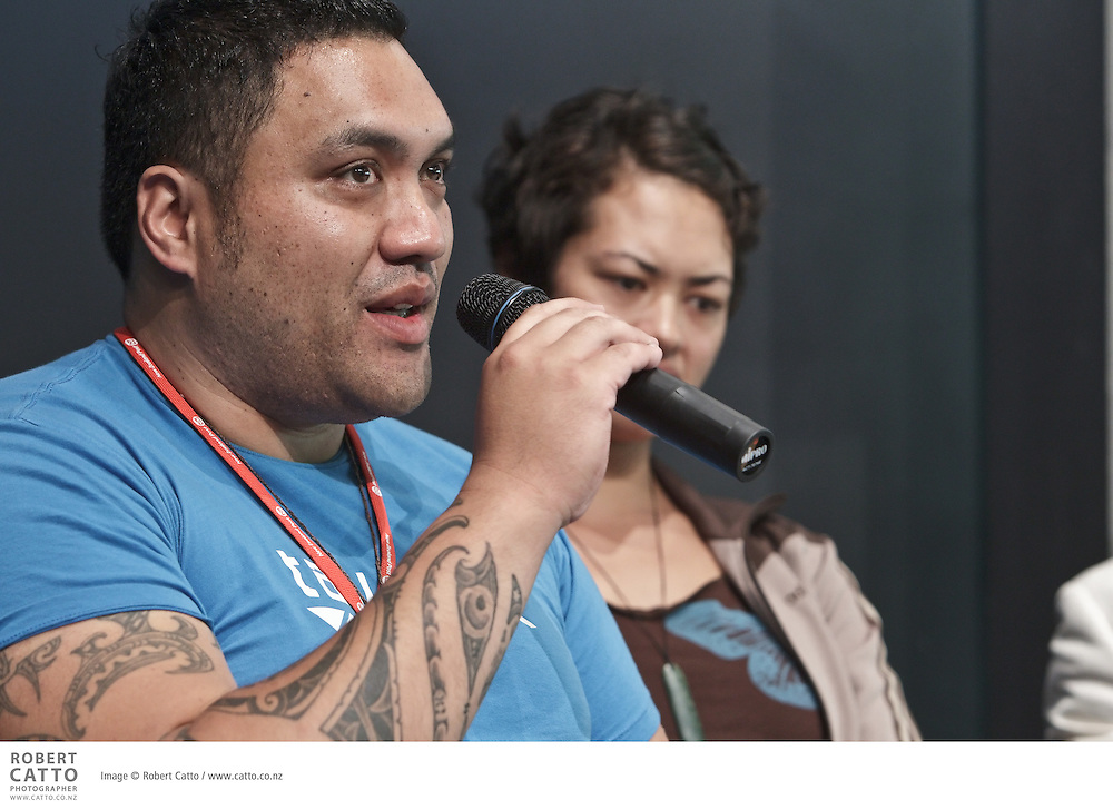 David Geary, James Ashcroft, Maaka Pohatu and Ngapaki Emery discuss Mark Twain And Me In Maoriland during the New Zealand International Arts Festival 2010.