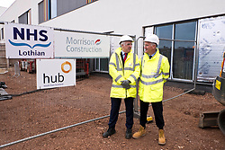 Pictured: The construction has been a joint effort between Hub and Morrison Construction and Hub's Chief Executive Paul McGirk and Morrisons' project Director Phil Galbraith were on hand to provide details of the project to date<br /> <br /> Infrastructure Secretary Michael Matheson visited East Lothian Community Hospital's construction site today to give an update on the Scottish Government's infrastructure programme, on the same day as an annual progress report is published<br /> <br /> Ger Harley | EEm 17 April 2019