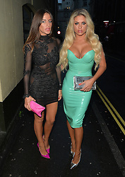 Bianca Gascoigne and freind Sarah at the STK restaurant in London, UK. 23/06/2016<br />BYLINE MUST READ : GOTCHAIMAGES.COM<br /><br />Copyright by © Gotcha Images Ltd. All rights reserved.<br />Usage of this image is conditional upon the acceptance <br />of Gotcha Images Ltd, terms and conditions available at<br />www.gotchaimages.com