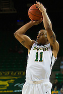 WACO, TX - DECEMBER 17: Lester Medford #11 of the Baylor Bears shoots the ball against the New Mexico State Aggies on December 17, 2014 at the Ferrell Center in Waco, Texas.  (Photo by Cooper Neill/Getty Images) *** Local Caption *** Lester Medford