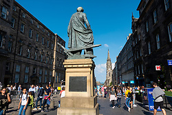 Statue of Adam Smith on the Royal Mile in Edinburgh, Scotland, UK