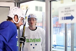 Anze Kopitar and Jan Drozg during team Slovenia practice at IIHF World Championship DIV. I Group A Kazakhstan 2019, on May 4, 2019 in Barys Arena, Nur-Sultan, Kazakhstan. Photo by Matic Klansek Velej / Sportida