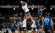 19/03/2011  SupeRugby. Bulls vs Stormers.Duane Vermeulen pips Victor Matfield(C) in the line out  .Pic: Stringer