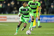 Forest Green Rovers Reece Brown(10) on the ball during the The FA Cup 1st round replay match between Forest Green Rovers and Oxford United at the New Lawn, Forest Green, United Kingdom on 20 November 2018.