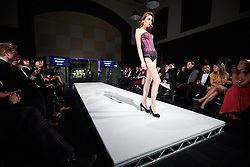 © Licensed to London News Pictures.  05/11/2014. OXFORD, UK. Oxford Fashion Week SS15 Lingerie Show at the Malmaison Hotel in Oxford. <br /> <br /> In this picture: Model wearing an outfit created by designer Dreamgirl. <br /> <br /> Photo credit: Cliff Hide/LNP