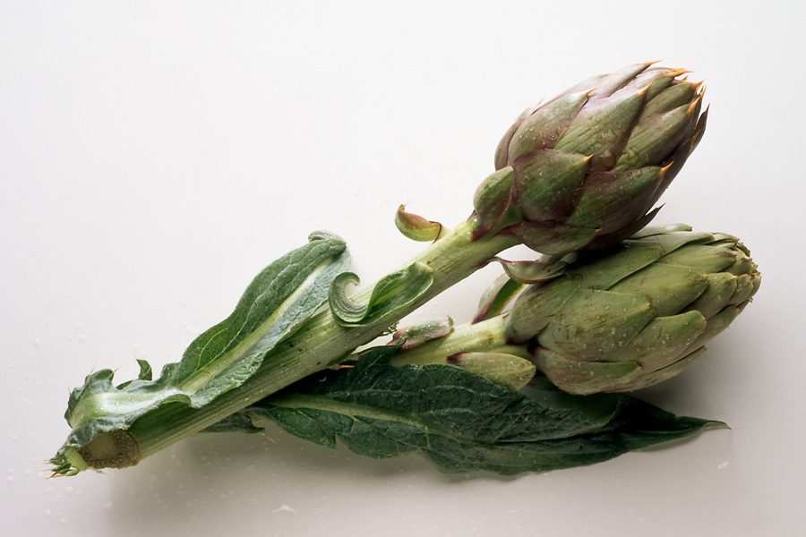 artichokes with and without thorns