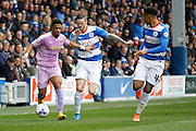 Reading striker Garath McCleary (12) makes a run down the wing during the Sky Bet Championship match between Queens Park Rangers and Reading at the Loftus Road Stadium, London, England on 23 April 2016. Photo by Andy Walter.