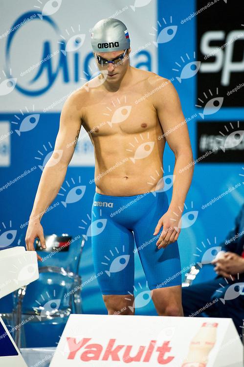 MOROZOV Vladimir RUS  Gold Medal.Men 100m Freestyle.FINA World Short Course Swimming Championships.Istanbul Turkey 12 - 16 Dec. 2012.Day 05.Photo G.Scala/Deepbluemedia/Inside