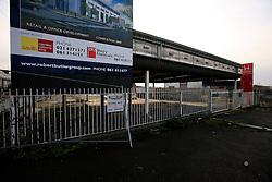 IRELAND LIMERICK 9FEB09 - Abandoned service station and car dealership in Limerick, western Ireland...jre/Photo by Jiri Rezac..© Jiri Rezac 2009