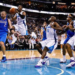 November 17, 2010; New Orleans, LA, USA; New Orleans Hornets point guard Chris Paul (3) shoots over Dallas Mavericks point guard Jason Kidd (2) during the second half at the New Orleans Arena. The Hornets defeated the Mavericks 99-97. Mandatory Credit: Derick E. Hingle