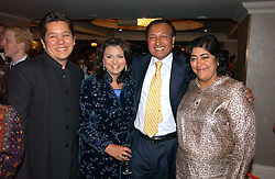 Left to right, PAUL BERGES, LISA AZIZ and DR ALI and film director GURINDER CHADHA at the 10th Anniversary Asian Business Awards 2006 at the London Grosvenor Hotel Park Lane, London on 19th April 2006.<br /><br />NON EXCLUSIVE - WORLD RIGHTS