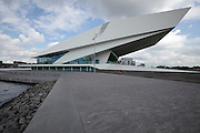Amsterdam modern architecture design The new Filmmuseum Eye on the banks of the river Het Ij.