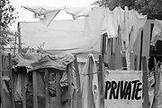 'Private' hidden hot tubs at Glastonbury, 1989.
