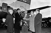 1962 - Mr John Bowles, President of Rexall Drugs, arriving at Dublin Airport