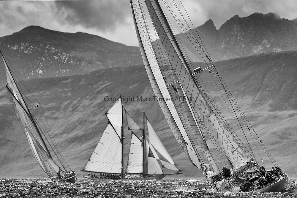 Halloween 1926 Berm Sloop with Altair 1931 Schooner.<br /> Limited to ten prints in Black &amp; White, printed on fine art paper 24&quot;x16&quot;, stamped and signed.