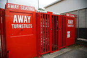 away turnstiles before the Checkatrade.com Stadium is open to fans during the EFL Sky Bet League 2 match between Crawley Town and Carlisle United at the Checkatrade.com Stadium, Crawley, England on 30 September 2017. Photo by Andy Walter.