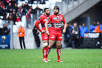 Matt Giteau / Bryan Habana - 19.04.2015 - Toulon / Leinster - 1/2Finale European Champions Cup -Marseille<br /> Photo : Andre Delon / Icon Sport