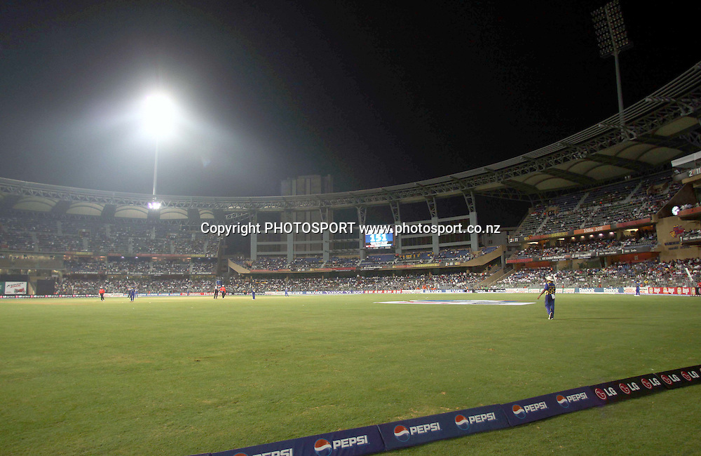 A floodlight fails During the ICC Cricket World Cup - 38th Match, Group A Sri Lanka vs New Zealand  Played at Wankhede Stadium, Mumbai (neutral venue) 18 March 2011 - day/night (50-over match)