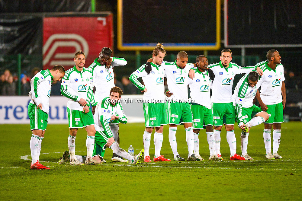 Equipe Saint Etienne pendant les tirs au but - 03.03.2015 - Boulogne / Saint Etienne - 1/4Finale Coupe de France<br />