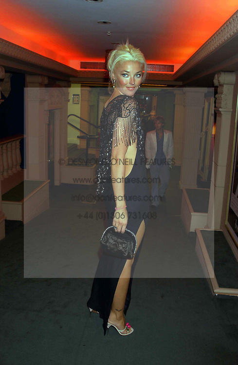 MISS TAMARA BECKWITH at a party to celebrate 'Made in Italy at Harrods' - a celebration of Italian fashion food and wine, design and interiors, art and photography, cinema and music, beauty and glamour.  The party was held in the Georgian Restaurant at Harrods, Knightsbridge, London on 9th September 2004.<br /><br />PICTURES LICENCED UNTIL 9/3/2004 FOR USE TO PROMOTE THE 'MADE IN ITALY' EVENT/S ONLY.