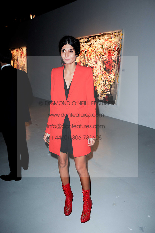 Giovanna Battaglia at a private view of Nicolas Pol's paintings entitled 'Mother of Pouacrus' held at The Dairy, Wakefield Street, London WC1 on 14th October 2010.