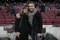 February 6, 2019 - Barcelona, Catalonia, Spain - TV host Noemi Galera (L) and Roberto Leal (R) before semifinal of spanish King Cup frist leg match between FC Barcelona and Real Madrid at  Nou Camp Stadium on February  6, 2019. (Credit Image: © Jose Miguel Fernandez/NurPhoto via ZUMA Press)