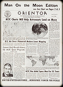 ACIC agency newsletter with description of moon work; message from President Richard Nixon on page 2.