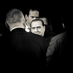 Brussels, Belgium 16 December 2010<br /> Italian Prime Minister Silvio Berlusconi arrives at the European Union leaders summit in Brussels.<br /> Photo: SCORPIX /  Ezequiel Scagnetti
