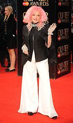 Cyndi Lauper attends The Olivier Awards 2016 at the Royal Opera House in London. 3rd April 2016. EXPA Pictures © 2016, PhotoCredit: EXPA/ Photoshot/ Paul Treadway<br /> <br /> *****ATTENTION - for AUT, SLO, CRO, SRB, BIH, MAZ, SUI only*****