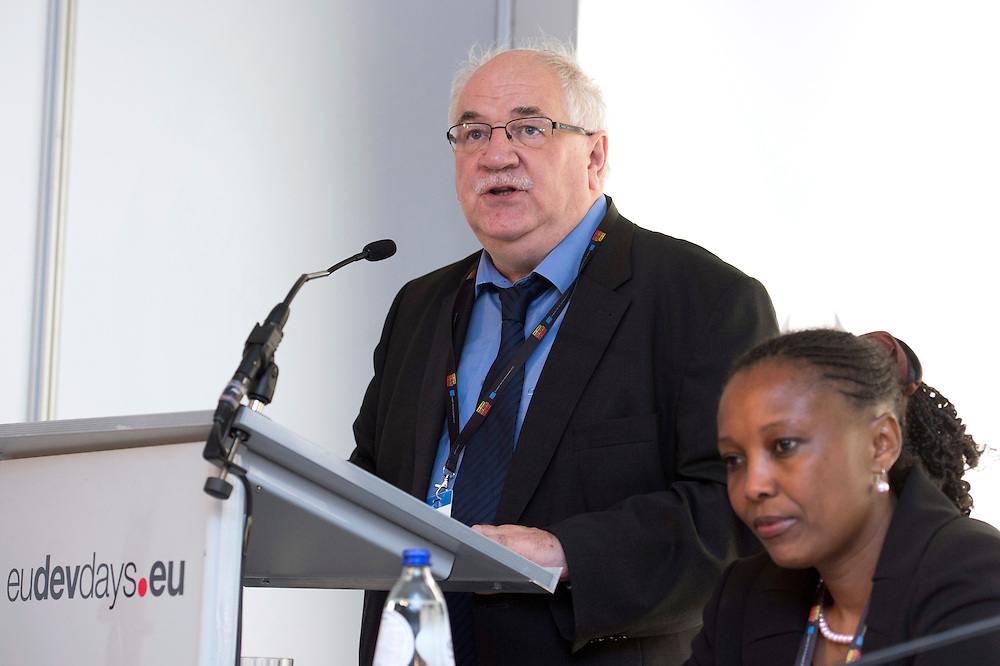 03 June 2015 - Belgium - Brussels - European Development Days - EDD - Citizenship - Culture - The forgotten lifeblood of development - Richard Miller , Member of the Belgian Parliament - Doreen Walsweer Sore © European Union