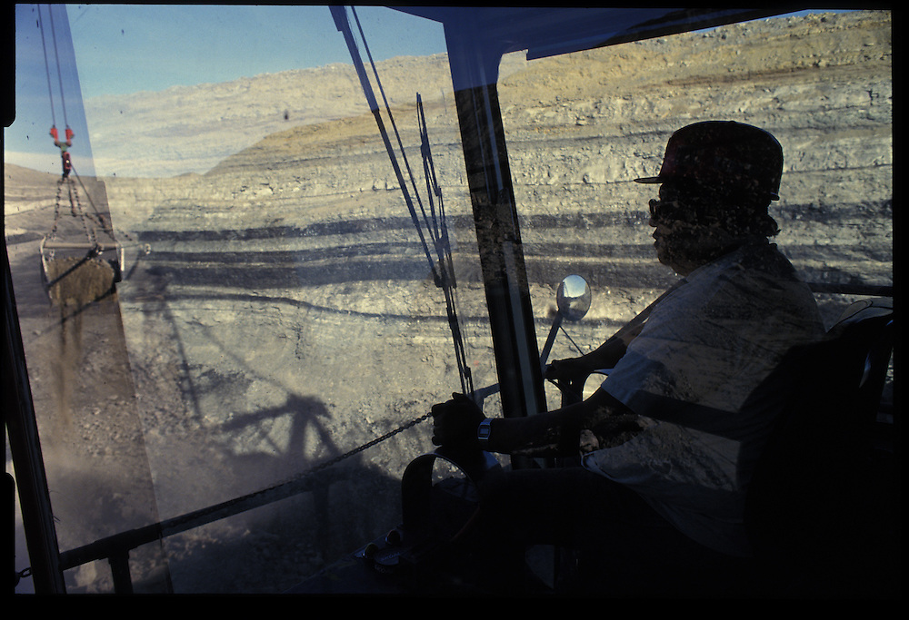 W.L. Willie - dragline operator.  Pittsberg and Midway Coal Mine.  Tse Bonito, NM  1993